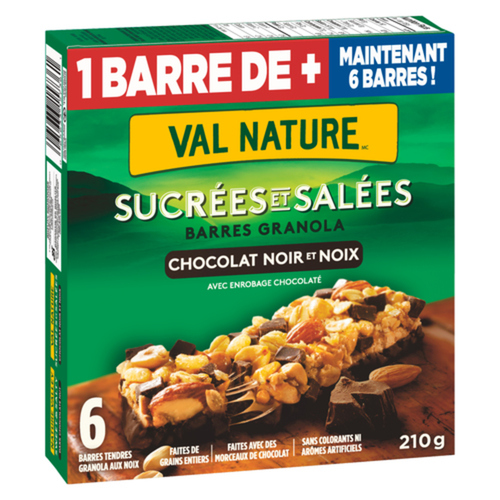 Nature Valley Granola Bar Sweet And Salty Chewy Dark Chocolate Nut 6 Count 210 g