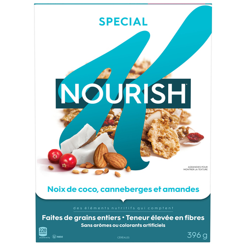 Kellogg's Special K Nourish Coconut Cranberry Almond Cereal 396 g