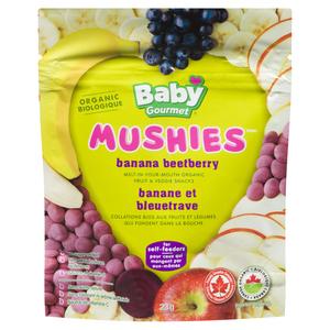 Baby Gourmet Organic Baby Snacks Mushies Banana Beetberry 23 g