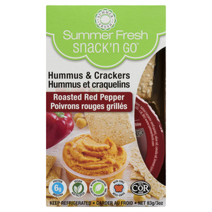 Summer Fresh Snack And Go Hummus Roasted Red Pepper 83 g