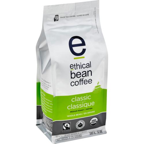 Ethical Bean Organic Classic Medium Roast Whole Bean Coffee 340 g