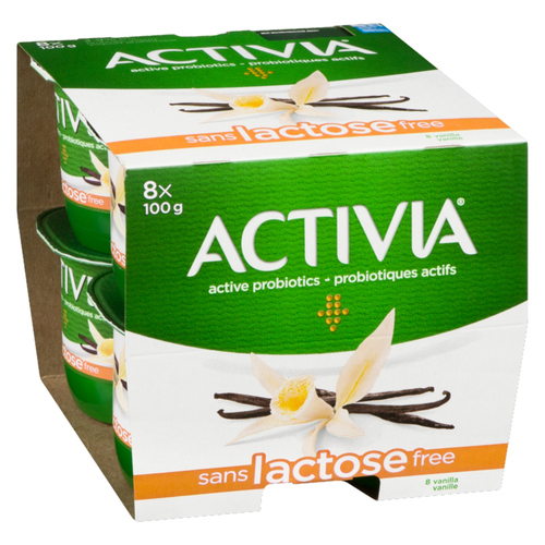 Activia Lactose Free Vanilla Yogurt 8 x 100 g