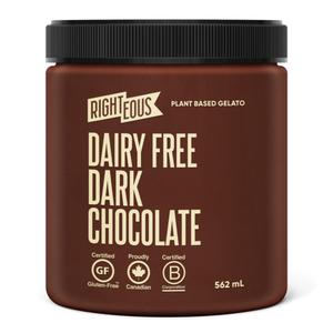 RIghteous Gelato Dairy Free Dark Chocolate Sorbetto 562 ml
