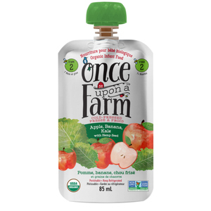 Once Upon a Farm Organic Baby Food Apple, Banana & Kale With Hemp Seed 85 ml