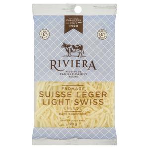 Riviera Shredded Light Swiss Cheese 170 g