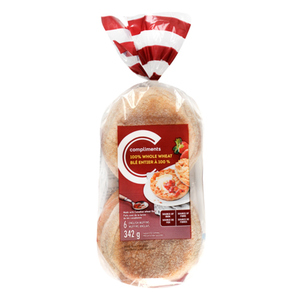 Compliments Whole Wheat English Muffins 342 g