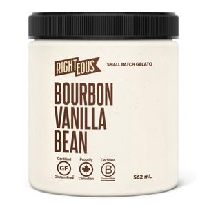 RIghteous Gelato Gluten-Free Gelato Bourbon Vanilla 562 ml