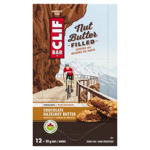 Clif Nut Energy Bar Butter Filled Chocolate Hazelnut 12 x 50 g