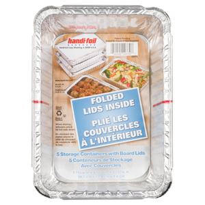 Handi-Foil Folded Lid Storage Containers 5 EA