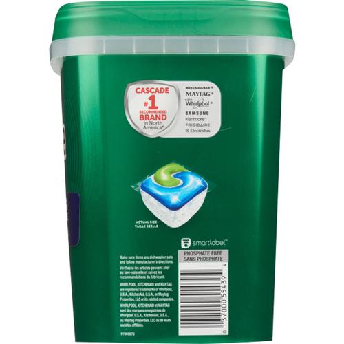 Cascade Complete Dishwasher Detergent Action Packs Fresh Scent 72 EA