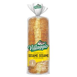 Villaggio Sesame Italian Style Thick Slice White Bread 675 g