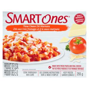 Smart Ones Three Cheese Ziti Marinara Frozen Meal 255 g