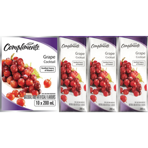 Compliments Grape Cocktail 10 x 200 ml