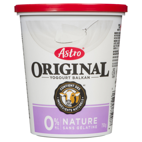 Astro Fat Free Plain Yogurt 750 g