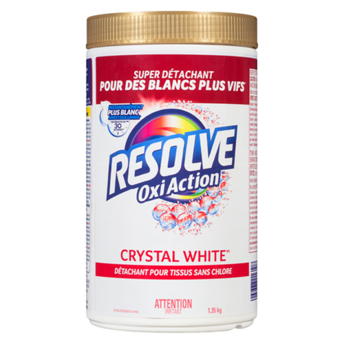Resolve Oxi-Action Crystal White In-Wash Laundry Stain Remover 1.35 kg