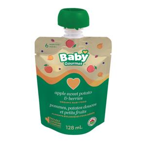Baby Gourmet Organic Apple Sweet Potato Berry Swirl Baby Food 128 ml