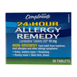 Compliments 24 Hour Allergy Remedy 30 Tablets