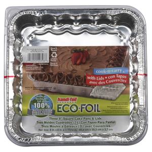 Handi-Foil Square Cake Pan With Lid 3 EA
