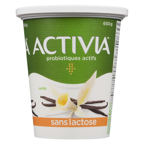 Activia Lactose Free Yogurt Vanilla 650 g