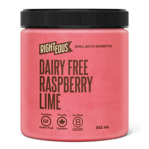 Righteous Gelato Dairy Free Raspberry Lime Sorbetto 562 mL