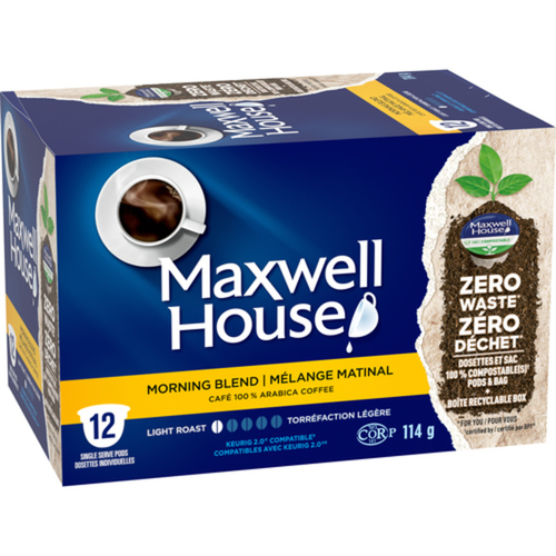 Maxwell House Coffee Pods Morning Blend 12 PK x 144 g