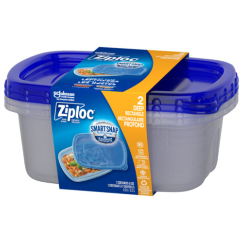 Ziploc Containers Rectangle Large 2 EA