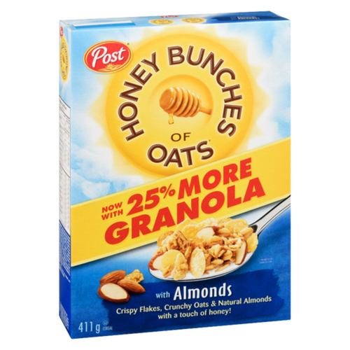 Post Honey Bunches of Oats Almond Cereal 411 g