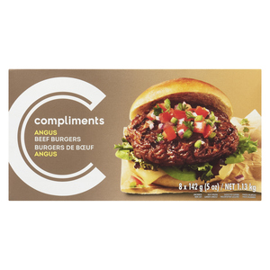 Compliments Angus Beef Burger 8 Patties 1.13 kg