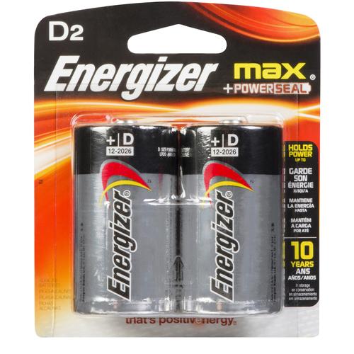 Energizer Batteries Max D 2 EA