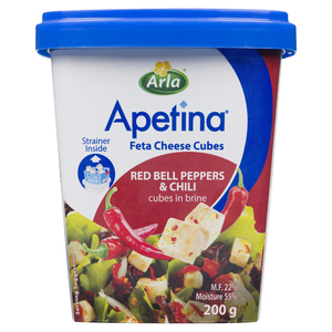 Arla Apetina Cheese Cubes Feta Red Pepper and Chili 200 g