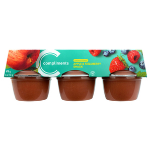Compliments Balance Snack Cups Apple Fieldberry Unsweetened 6 x 113 g