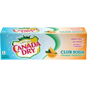 Canada Dry Club Soda Orange-Mandarin 12 x 355 ml