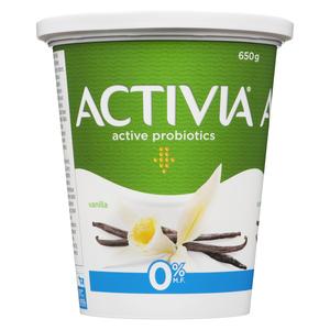 Activia Fat Free Yogurt Vanilla 650 g
