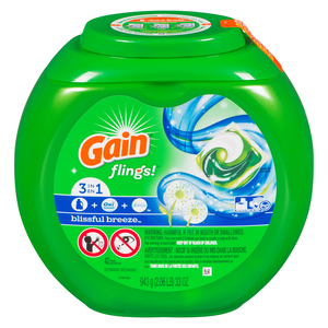 Gain Flings Blissful Breeze Laundry Detergent 42 EA