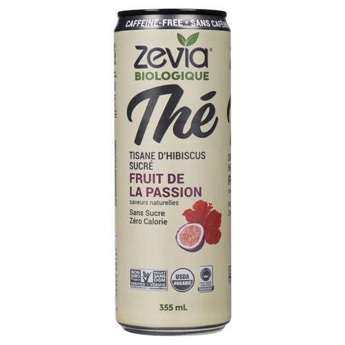 Zevia Caffeine-Free Hibiscus Passionfruit Tea 355 mL