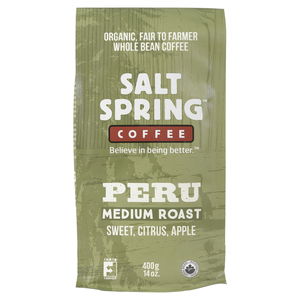 Salt Spring Medium Roast Peru Coffee  400 g