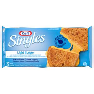Kraft Singles Original Light Slices 22 Pack CheeseSlices 410 g