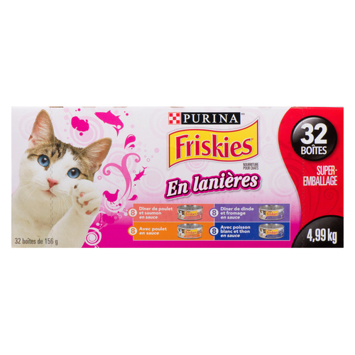 Friskies Shredded Cat Food Variety 32 cans 156 g