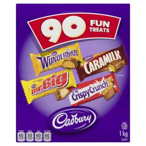 Cadbury Halloween Candy Chocolate Assorted 90 Bars 1 kg