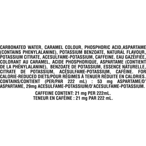Coca-Cola Zero Sugar 6 x 222 mL