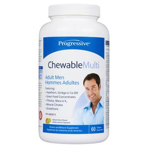 Progressive Chewable Multivitamins for Men 60 Veggie Capsules