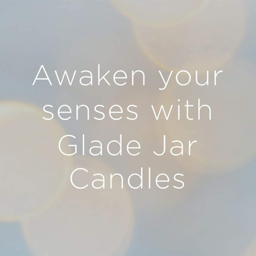 Glade Scented Jar Candle Air Freshener Angel Whispers 1 pack