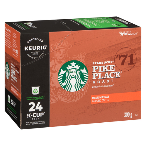 Starbucks Pike Place Coffee Pods 24  K-Cup