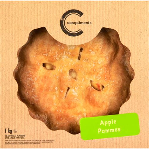 Compliments Frozen Apple 9-inch Pie 1 kg