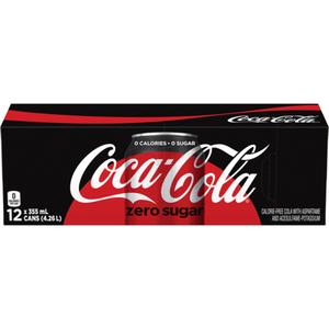 Coca-Cola Zero Soft Drink 12 x 355 mL