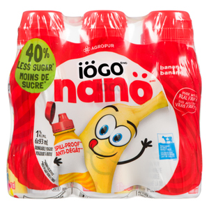 Iögo Nanö Drinkable Banana Yogurt 6 x 93 mL