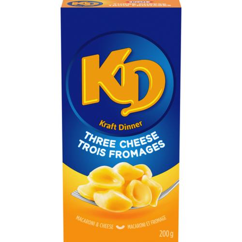 Kraft Dinner Macaroni & Cheese Three Cheese 200 g
