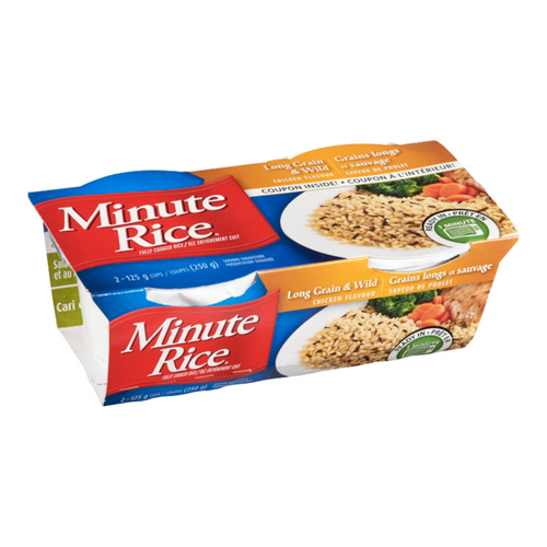 Minute Rice Long Grain Wild Rice Ready To Serve Chicken Flavour 250 g
