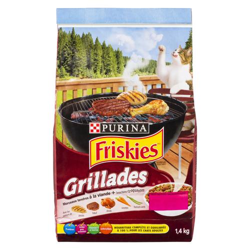 Friskies Dry Cat Food Grillers Meaty Tenders Crunchy Bites 1.4 kg