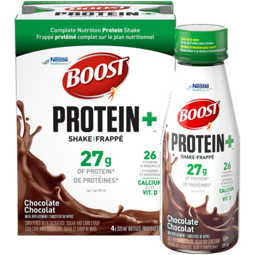Boost Protein+ Shake Meal Replacement Chocolate 4 x 325 ml